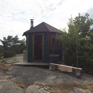 sauna on a hill