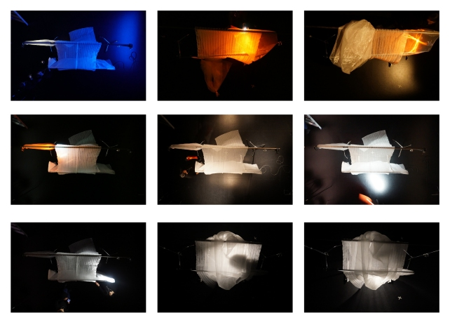 Selection of images from explorations with light.